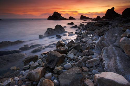 jurassic-sunset-Mupe-Rocks-Dorset